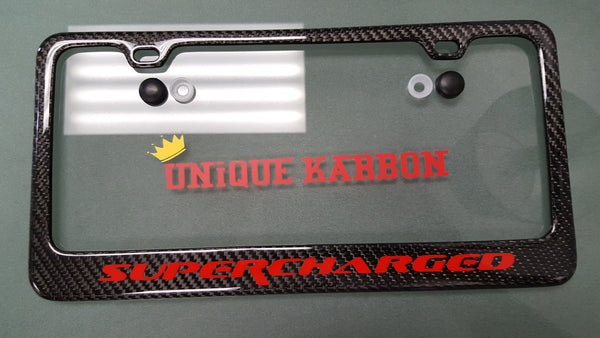 Corvette Quot Supercharged Quot Carbon Fiber License Plate Frame