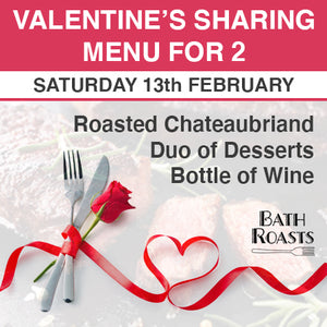 Valentine's Sharing Menu for 2: Chateaubriand Beef (£39.50pp)