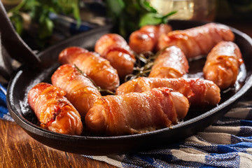 Honey and Mustard Glazed Pigs in Blankets
