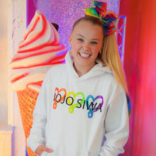 "Load image into Gallery viewer, SOLD OUT JoJo Siwa ""RAINBOW LOVE"" Limited Edition Hoodie"