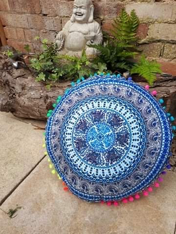 Meditation cushion elephant design