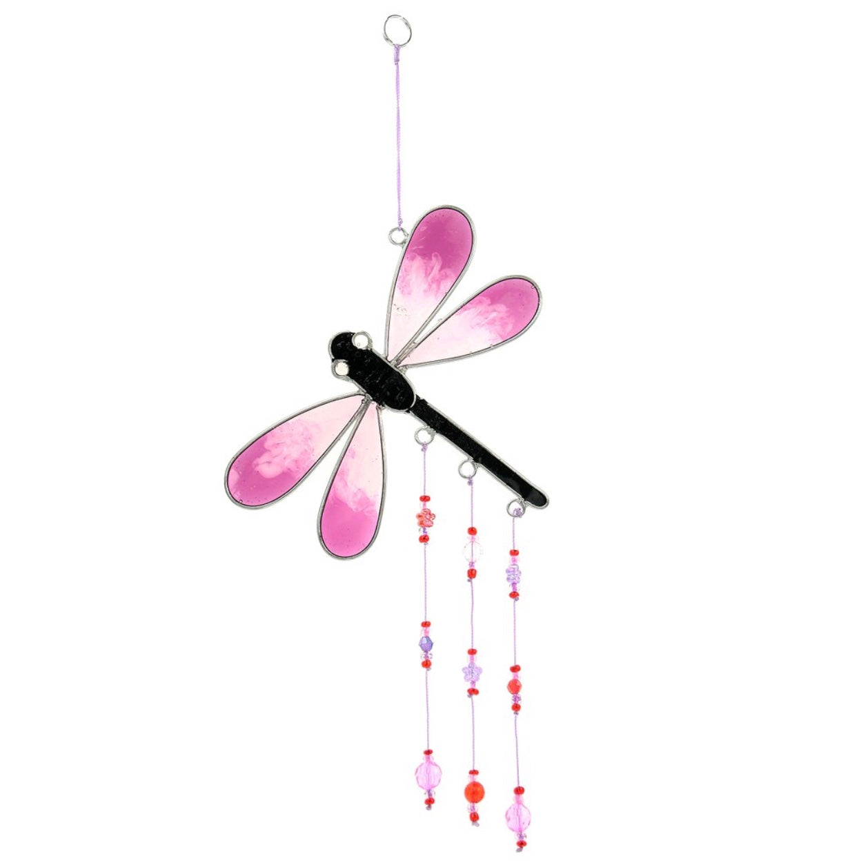 Pink Dragonfly sun catchers