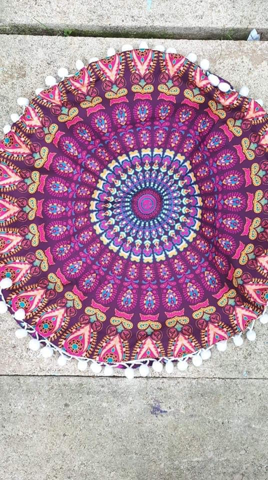 Meditation cushion mandala design