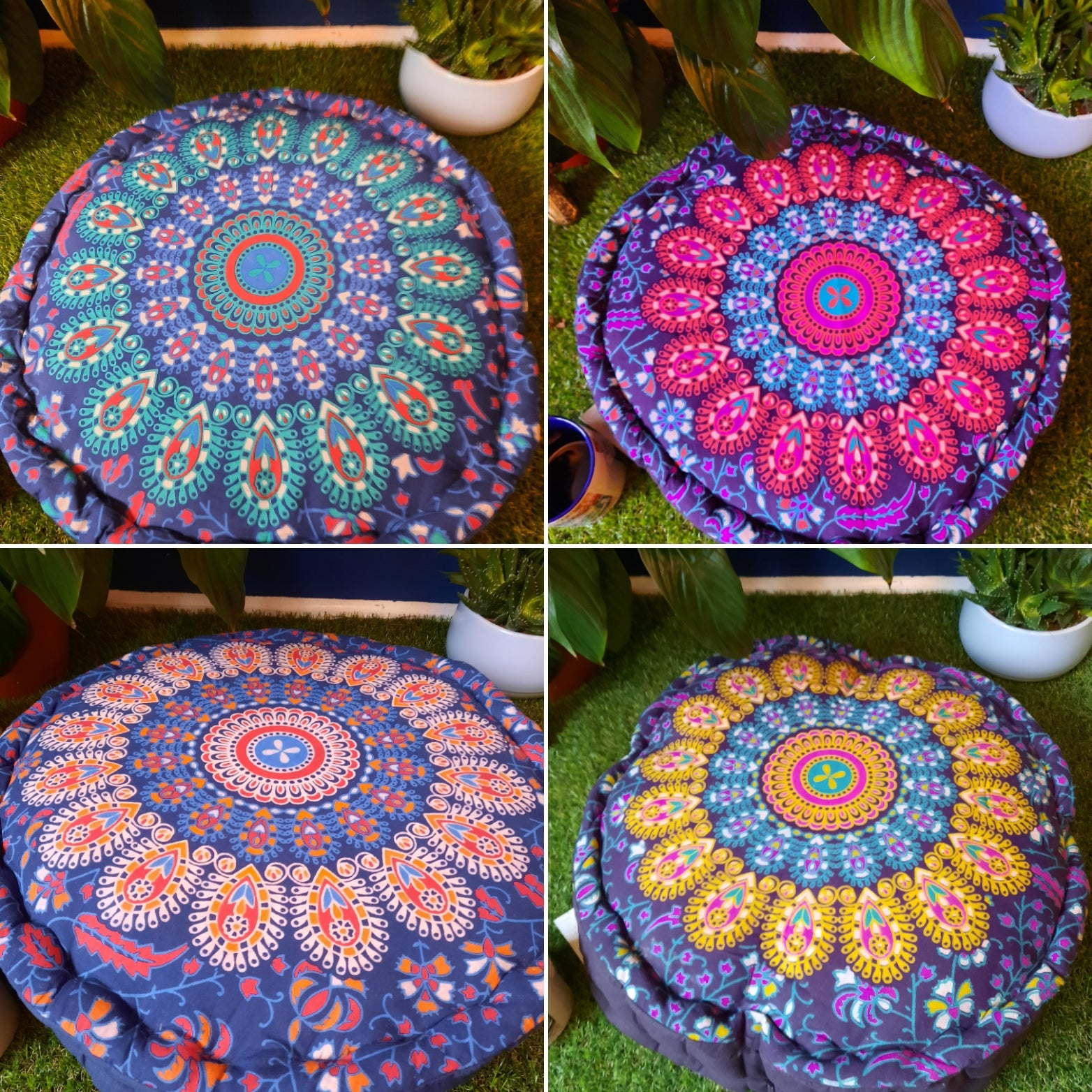 Meditation cushion from india. (Fairtrade item)