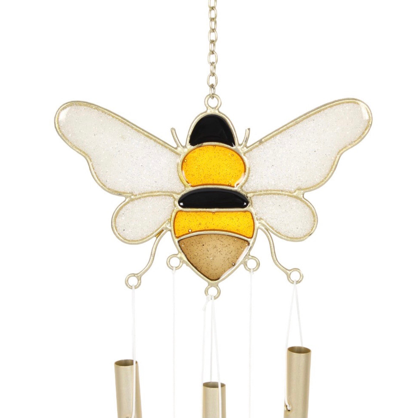 bee and honeycomb wind chime
