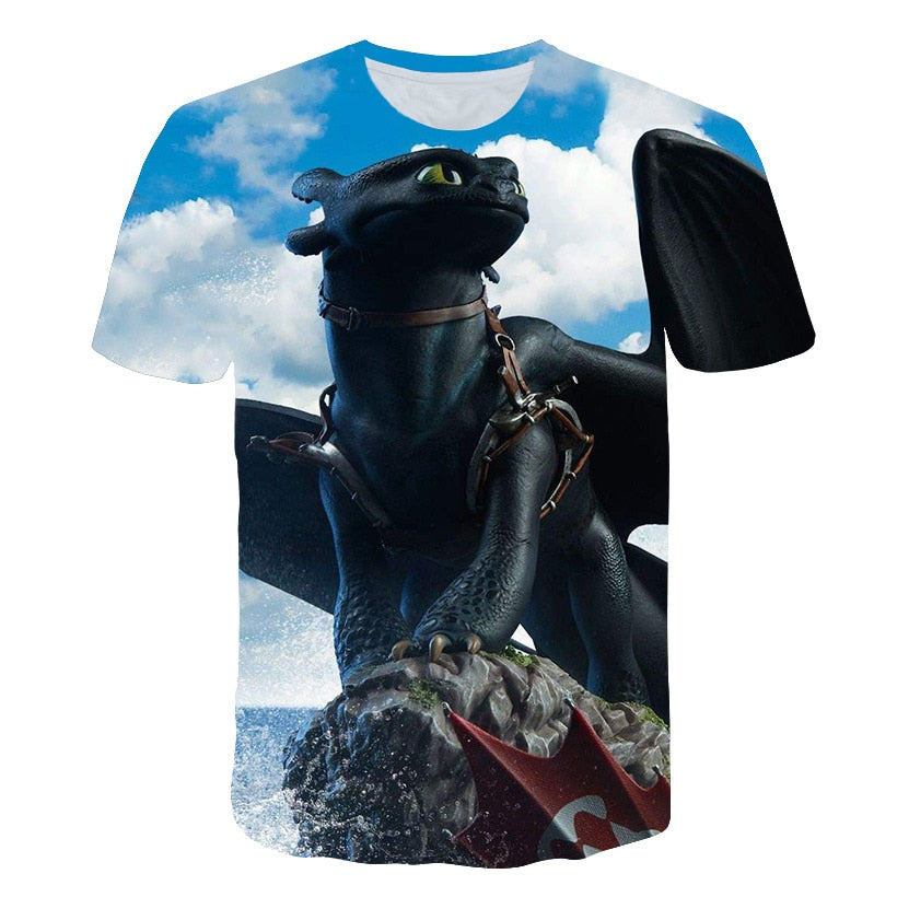 HHenry Youth 3D Print How to Train Your Dr-Agon Short Sleeve T-Shirt Tee Tops for Boys Girls