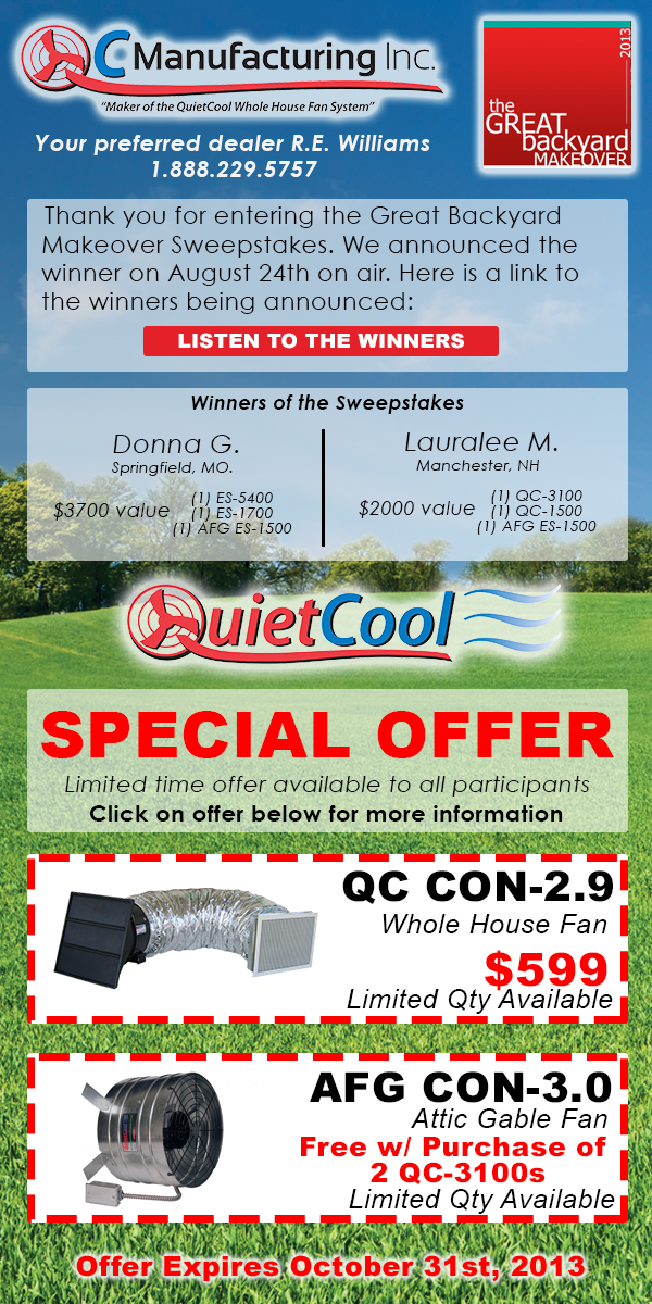 Quiet Cool Special Offer