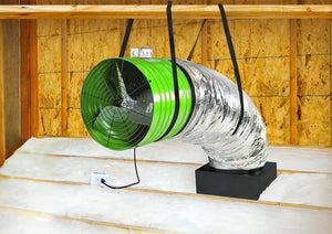 Quiet Cool ES3100 Whole House Fan in Attic