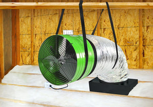 Quiet Cool ES4700 Whole House Fan Installed