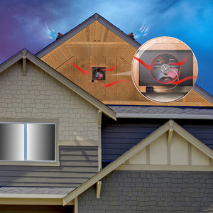 Smart Professional Attic Gable Fan with Smart Control 2860 CFM