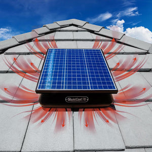 Quiet Cool AFR SLR-40W Solar Fan Installed