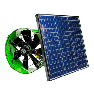 "Gable Attic Fan 14"" with 40 Watt Solar Panel - 1486 CFM"