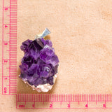 Amethyst Geode Pendant - Silver Finish