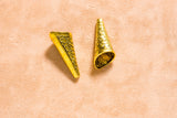 Cone Finding (2 pc) - 40x15mm - Base Metal - Gold color