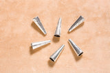 Cone Finding (6 pc) - 27x10mm - Base Metal - Silver color
