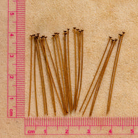 Copper Headpin - 24 gauge - 24 count