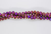 "Druzy Agate - 6mm Faceted Round - 8"" Strand - Purple"
