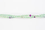 "Fluorite - 4mm Faceted Round - 16"" Strand"