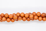 "Goldstone - 8mm Round - 16"" Strand"