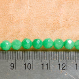"Green Aventurine (AAA) - 6mm - Faceted Round - 15-16"" Strand"