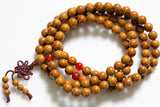 Mala -- 9 mm Lotus Seed and Citrine Stone