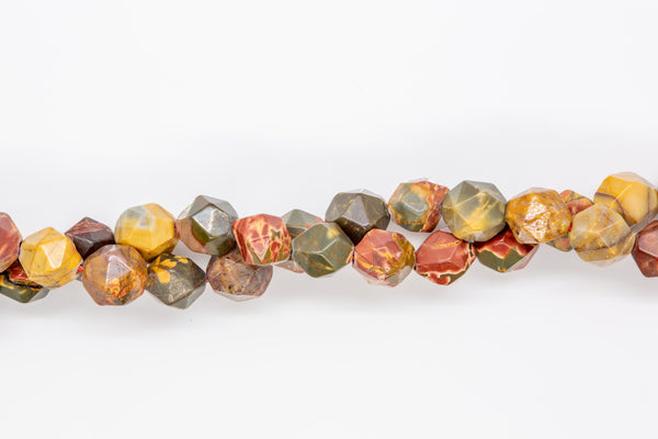 "Red Creek Jasper - 8mm Faceted Round - 16"" Strand"