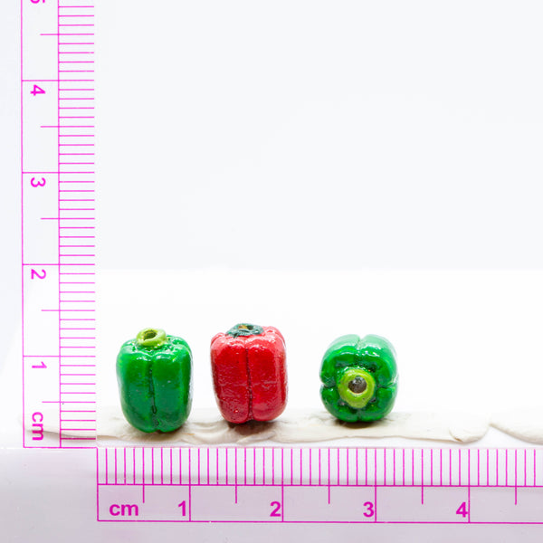Small Bell Pepper Ceramic Bead