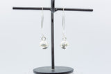 Thai Silver 12mm Ball Dangle on Diamond Shaped Wire (Pair)