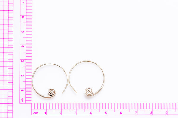 Thai Silver One Piece Swirl (Pair)