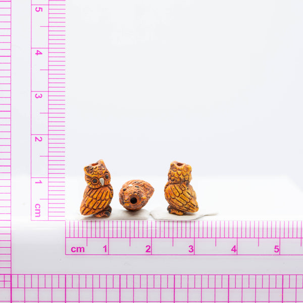 Small Owl Ceramic Bead