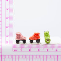 Small Rollerskate Shoe Ceramic Bead