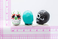 Sugar Skull Ceramic Bead