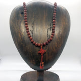 "Mala -- 8 mm Red Lotus Seed, 33"" on Stretchy"