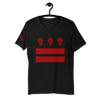 DC fist flag shirt (black with red)