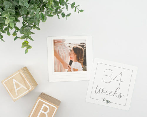 Pregnancy Milestone Cards - Greenery