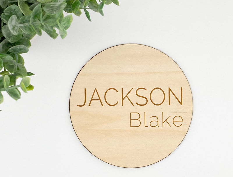 Wood Name Sign