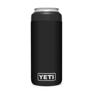 YETI Rambler Colster Slim Can Insulator Black