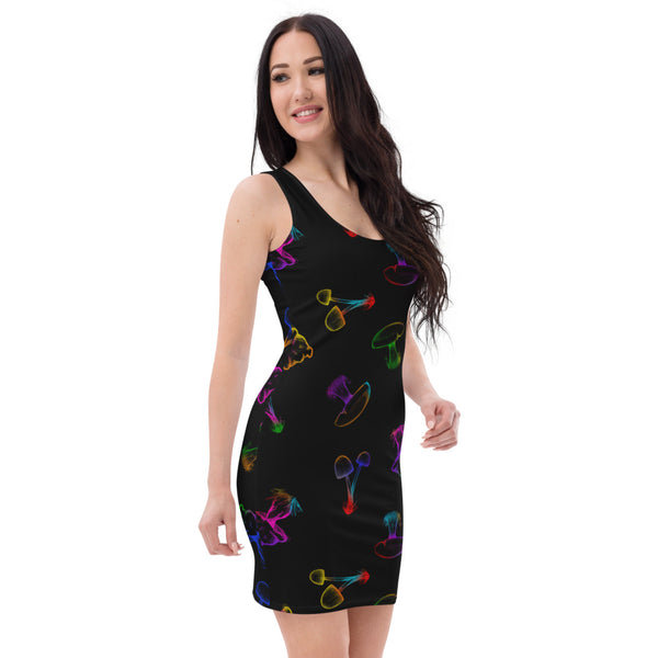 Rainbow Mushroom Pattern Dress