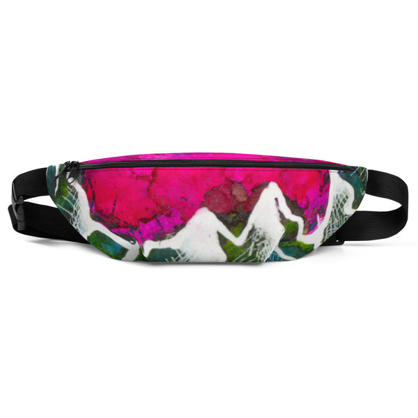 Pink Sky and Mountains Fanny Pack