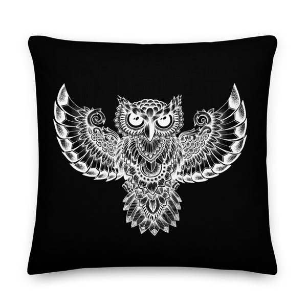 Owl (black) Pillow