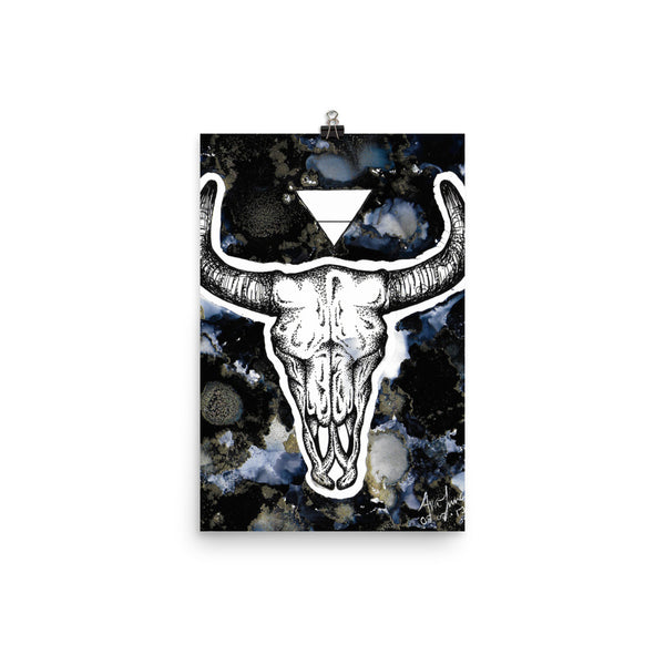 Bull and Earth Print