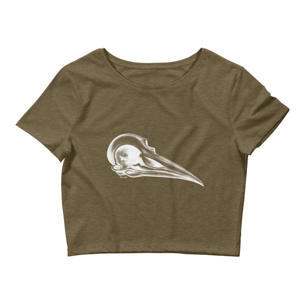 Bird Skull Crop Top Tee