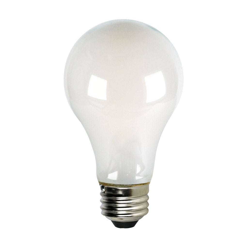 CLEANLIFE® LED A19 White Glass Light Bulb 8W