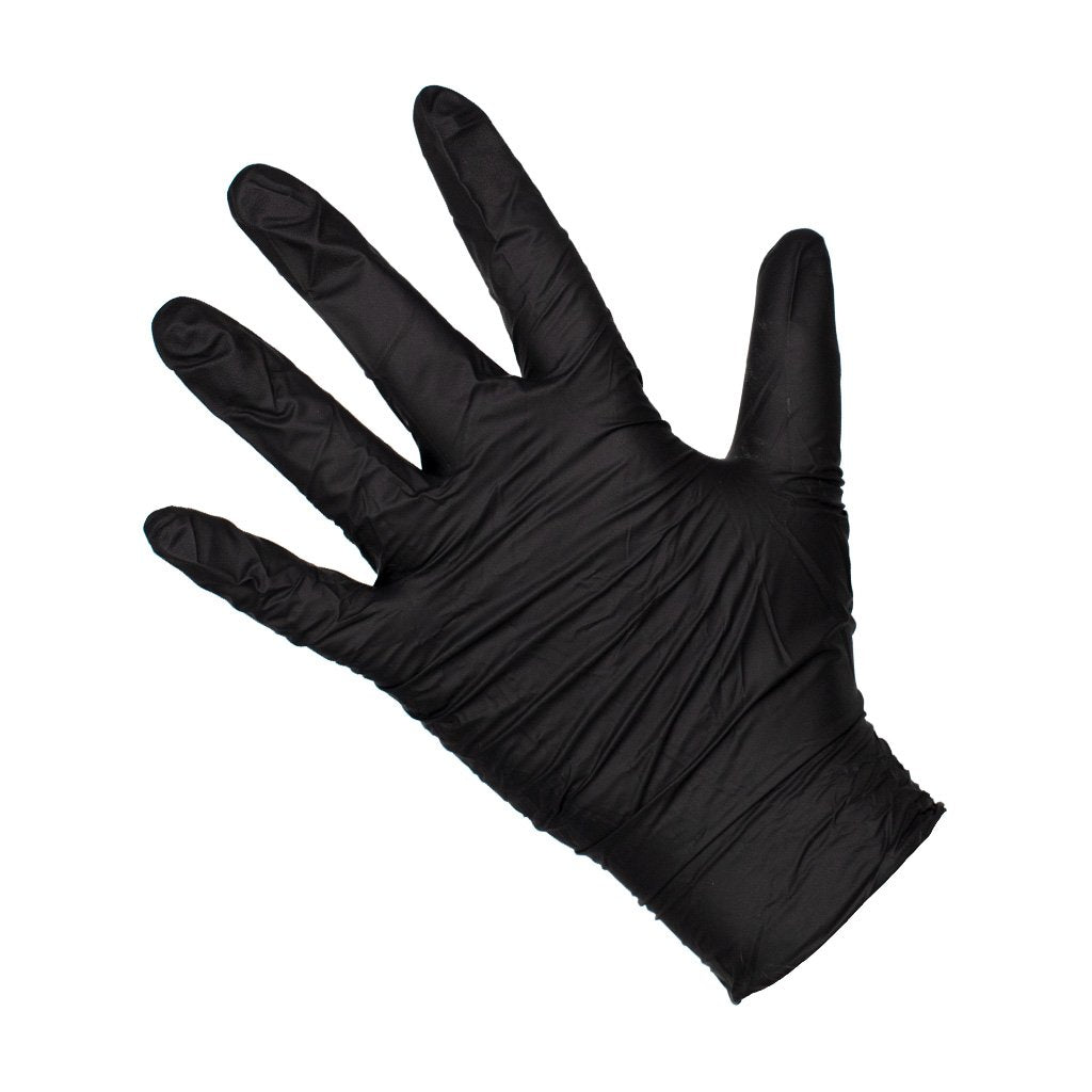 Nitrile Gloves - Black (100 pack)