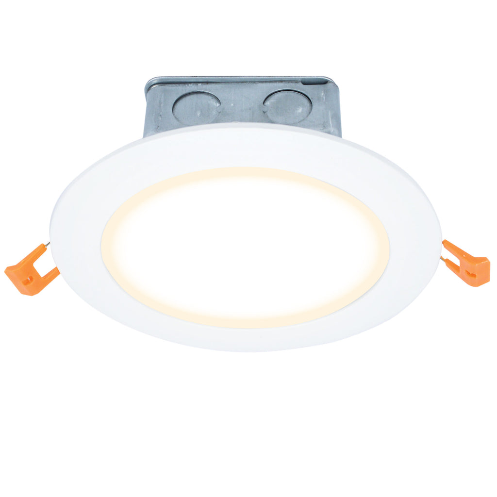 "7"" Modern LED Recessed Direct Wire Downlight With J-Box"