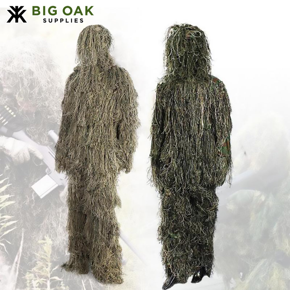 Camouflage Hunting Ghillie Suit With Cover Bags