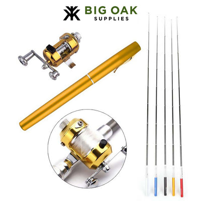 Portable Telescopic Fishing Pole with Reel Wheel