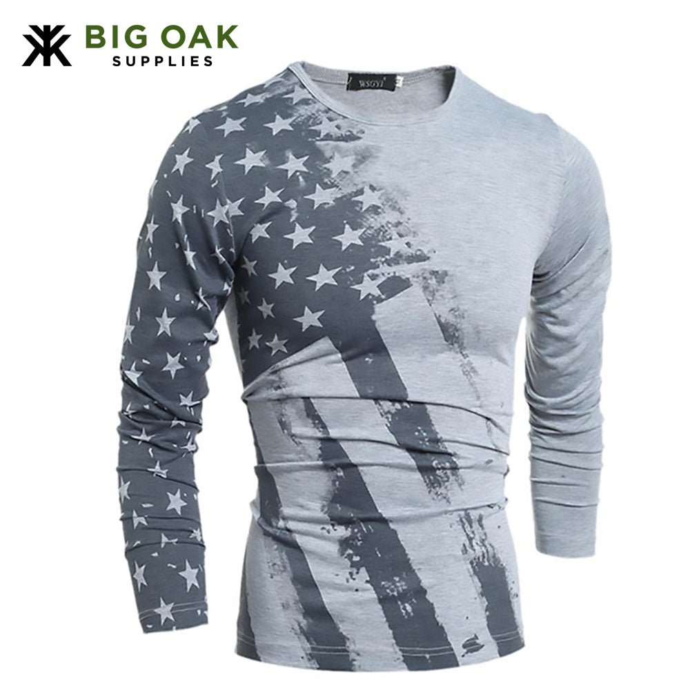 American Flag Long Sleeve Short