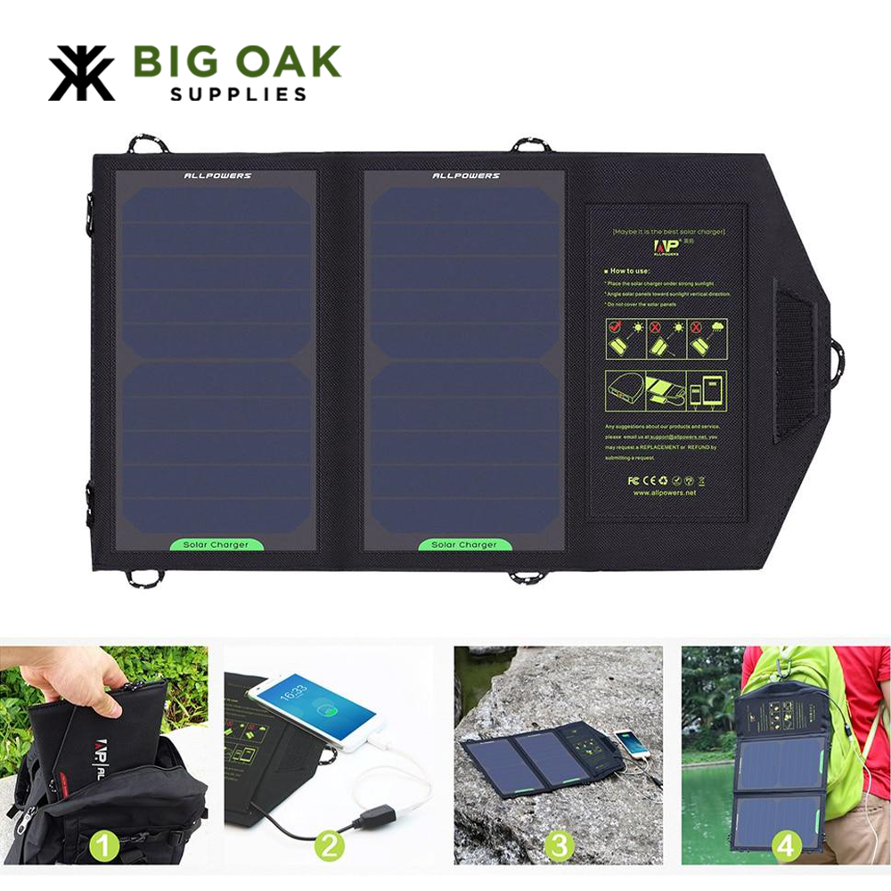 Portable Solar Battery for Camping Outdoors