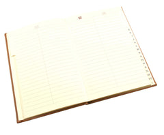 Esposti A5 Address Book - Italian PU Padded Cover with Cream Gold Edged Pages